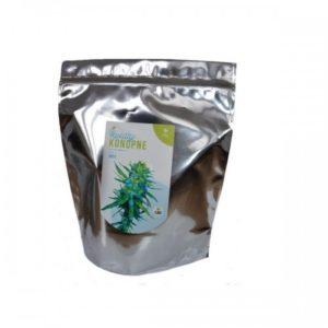 DOBRE KONOPIE Kwiaty i liście z konopi włóknistych z CBD ze zbioru ręczengo 100g