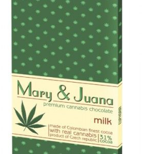 EUPHORIA Czekolada mleczna Mary&Juana 80g